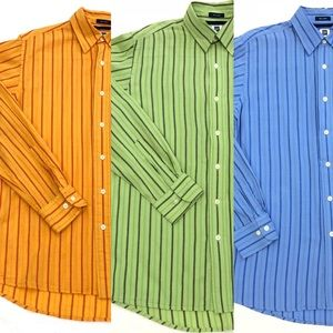 LOT OF 3 GAP Striped Button Up Shirt Mens Small